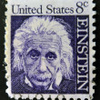 Stock Photo: UNITED STATES OF AMERIC- CIRC1965: stamp printed in USshows Albert Einstein, theoretical physicist who developed theory of general relativity, circ1965