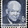UNITED STATES OF AMERICA - CIRCA 1970: a stamp printed in USA shows Dwight David Eisenhower, President of US, 1953-61, circa 1970 — Stock Photo