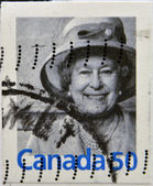CANADA - CIRCA 2003: A stamp printed in Canada shows Queen Elizabeth II, circa 2003 — Stock Photo