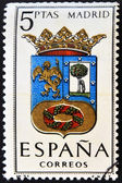 SPAIN - CIRCA 1965: A stamp printed in Spain dedicated to Arms of Provincial Capitals shows Madrid, circa 1965. — Stock Photo