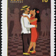 CUBA - CIRCA 2010: A stamp printed in Cuba dedicated to popular dances, shows danzon dance, circa 2010 — Stock Photo
