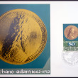 LIECHTENSTEIN - CIRCA 1978: Stamp printed in Liechtenstein dedicated to coin and medals, shows Prince Johann Adam of Liechtenstein, circa 1978 — Stock Photo