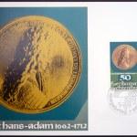 LIECHTENSTEIN - CIRCA 1978: Stamp printed in Liechtenstein dedicated to coin and medals, shows Prince Johann Adam of Liechtenstein, circa 1978 — Stock Photo #28902429