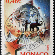 MONACO - CIRC2002: stamp printed in Monaco dedicated to circus, circ2002 — Stock Photo #28902549
