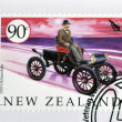 Stock Photo: NEW ZEALAND - CIRC2003: stamp printed in New Zealand dedicated to old cars, shows 1903 Oldsmobile, circ2003