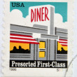 UNITED STATES OF AMERICA - CIRCA 1995: A stamp printed in USA shows Diner, presorted First Class, circa 1995 — Stock Photo