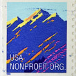 UNITED STATES OF AMERICA - CIRCA 1995: A stamp printed in USA shows mountain, circa 1995 — Stock Photo