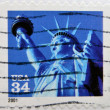 UNITED STATES OF AMERICA - CIRCA 2001: A stamp printed in USA shows Statue of Liberty, circa 2001 — Stock Photo