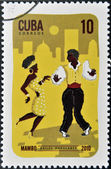 CUBA - CIRCA 2010: A stamp printed in Cuba dedicated to popular dances, shows Mambo dance, circa 2010 — Stock Photo