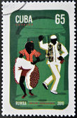 CUBA - CIRCA 2010: A stamp printed in Cuba dedicated to popular dances, shows rumba dance, circa 2010 — Stock Photo