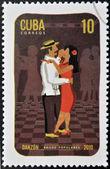 CUBA - CIRCA 2010: A stamp printed in Cuba dedicated to popular dances, shows danzon dance, circa 2010 — Stock Photo