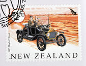 NEW ZEALAND - CIRCA 2003: A stamp printed in New Zealand dedicated to old cars, shows 1915 Model T Ford, circa 2003 — Stock Photo