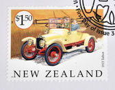 NEW ZEALAND - CIRCA 2003: A stamp printed in New Zealand dedicated to old cars, shows 1915 Talbot, circa 2003 — Stock Photo
