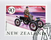NEW ZEALAND - CIRCA 2003: A stamp printed in New Zealand dedicated to old cars, shows 1903 Oldsmobile, circa 2003 — Stock Photo