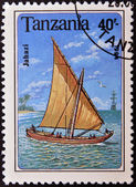 TANZANIA - CIRCA 1994: A stamp printed in Tanzania shows image of a ship, jahazi, circa 1994 — Stockfoto