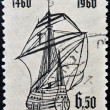 BRAZIL - CIRCA 1960: A stamp printed in Brazil dedicated to Henry the Navigator shows caravel, circa 1960 — Stock Photo