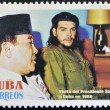 CUBA - CIRCA 2008: Stamp printed in cuba shows President Sukarno of Indonesia and Ernesto Che Guevara, circa 2008 — Stock Photo #29134063