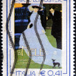 ITALY - CIRCA 2003: A stamp printed in Italy shows the mele poster, circa 2003 — Stock Photo #29134261