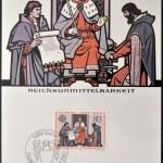 LIECHTENSTEIN - CIRCA 1982: A stamp printed in Liechtenstein shows imperial immediacy, circa 1982 — Stock Photo #29134503