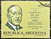 ARGENTINA - CIRCA 1987: A stamp printed in Argentina shows Carlos Alberto Pueyrredon, circa 1987 — Stock Photo