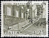 ITALY - CIRCA 1973: A stamp printed in Italy shows Caserta Royal Palace by Luigi Vanvitelli, circa 1973 — Stock Photo