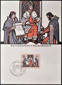 лихтенштейн - около 1982 года: марку, напечатанную в лихтенштейне показывает имперский, около 1982 года — Стоковое фото