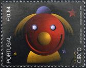 PORTUGAL - CIRCA 2002: A stamp printed in Portugal dedicated to Circus, circa 2002 — 图库照片