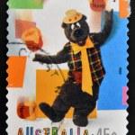 AUSTRALIA - CIRCA 1999: A stamp printed in Australia dedicated to children s TV shows Here s Humphrey, circa 1999 — Stock Photo #29384551