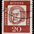 GERMANY - CIRC1963: stamp printed in Germany shows Johann SebastiBach, Composer, Organist and Violinist, circ1963 — Stock Photo #29385043
