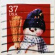 UNITED STATES OF AMERICA - CIRCA 2002: A stamp printed in USA shows snowman, circa 2002 — Stock Photo