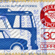 Stock Photo: MEXICO - CIRC1988: stamp printed in Mexico shows Motor Vehicle, MexicExport, circ1988