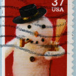 UNITED STATES OF AMERICA - CIRCA 2002: A stamp printed in USA shows snowman, circa 2002 — Photo