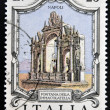 Stock Photo: ITALY - CIRC1973: stamp printed in Italy shows ImmacolatellFountain, Naples, Italy, circ1973