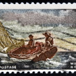 "UNITED STATES OF AMERICA - CIRCA 1962: A stamp printed in USA shows ""Breezing Up"", by Winslow Homer, circa 1962 — Stock Photo"