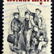 "Stock Photo: UNITED STATES OF AMERIC- CIRC1982: stamp printed in USshows Frontispiece from ""Ragged Dick"", by Horatio Alger, americAuthor, circ1982"