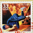 Stock Photo: UNITED STATES OF AMERIC- CIRC2000: stamp printed in USshowing image of break dancer, circ2000.