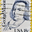 UNITED STATES OF AMERICA - CIRCA 1981: A stamp printed in USA shows portrait of George Mason, circa 1981 — Stock Photo