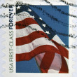 UNITED STATES OF AMERICA - CIRCA 2011: A stamp printed in the USA shows Flag on the sky, circa 2011 — Stock Photo