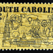 UNITED STATES OF AMERICA - CIRCA 1970: stamp printed in USA shows Symbols of South Carolina, circa 1970 — Stock Photo