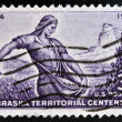 UNITED STATES OF AMERICA - CIRCA 1954: A stamp printed in USA shows image of the dedicated to the Nebraska Territorial Centennial, circa 1954.  — Stock Photo