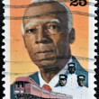 Stock Photo: UNITED STATES OF AMERIC- CIRC1989: stamp printed in USA, shows AsPhilip Randolph, Labor and Civil Rights Leader, Black Heritage, circ1989