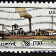 Stock Photo: UNITED STATES OF AMERICA - CIRCA 1989: A stamp printed in USA shows Ship Experiment (1788 - 1790), Steamboats series, circa 1989