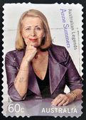 AUSTRALIA - CIRCA 2011: A stamp printed in Australia shows Anne Summers, australian legends, circa 2011 — Stock Photo