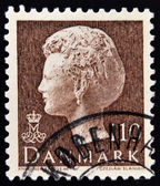 DENMARK - CIRCA 1974: stamp printed in Denmark, shows portrait of Queen Margrethe, circa 1974 — Stock Photo