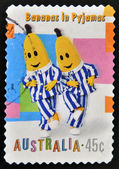 AUSTRALIA - CIRCA 1999: A stamp printed in Australia dedicated to children s TV shows Bananas in pyjamas, circa 1999 — Stock Photo