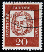 GERMANY - CIRCA 1963: a stamp printed in Germany shows Johann Sebastian Bach, Composer, Organist and Violinist, circa 1963 — Stock Photo