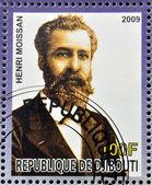 DJIBOUTI - CIRCA 2009: stamp dedicated to French Nobel chemistry prize shows Henri Moissan, circa 2009 — ストック写真