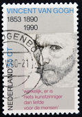 NETHERLANDS - CIRCA 1990: A stamp printed in Holland shows Self-portrait, pencil sketch, by Vincent van Gogh, circa 1990 — Stock Photo