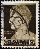 ITALY - CIRCA 1929: A stamp printed in Italy shows Augustus Caesar, circa 1929 — Stock Photo