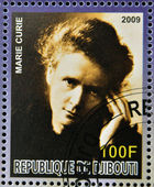 DJIBOUTI - CIRCA 2009: stamp dedicated to French Nobel chemistry prize shows Marie Curie, circa 2009 — Stock Photo